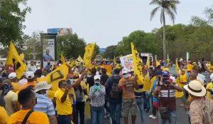 Multitud marcha  para exigir entrega del 30 % de los fondos de pensiones