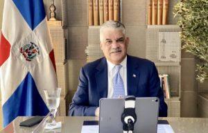 Canciller dominicano llama a unir esfuerzos para enfrentar crisis COVID