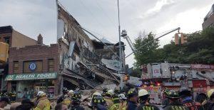 Colapsa edificio en vecindario de Carroll Gardens en Brooklyn