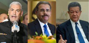 Presidente Medina, Gonzalo y Leonel  reconocen el triunfo de L. Abinader