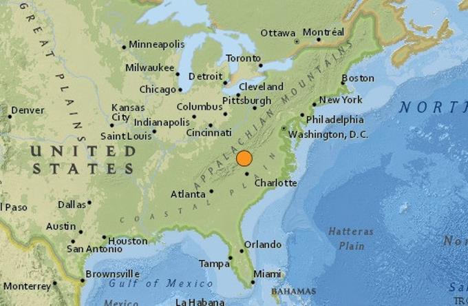 EEUU: Un terremoto de magnitud 5.1 sacude los estados del sureste