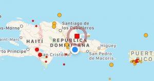 Reportan un temblor de 4.5 grados en el noreste de la República Dominicana