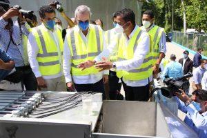 SAMANA: Abinader pone en ejecución Planta Tratamiento Aguas Residuales