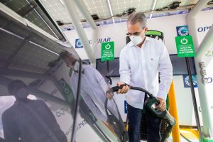 Abren en Torre Popular estación de cargar vehículos eléctricos