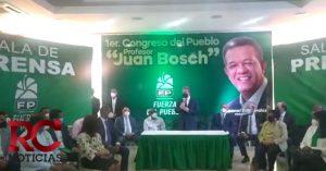 FP realizará congreso elector en marzo; llevará nombre Manolo Tavárez Justo