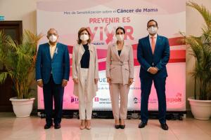 Primera Dama encabeza acto campaña prevención del cáncer de mama
