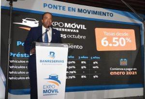 Banreservas inaugura Expomóvil 2020 ofertando tasas fijas desde 6.50%