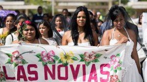 Marcha de Novias rechaza la violencia de género en República Dominicana