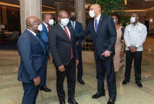 El canciller de Haití Claude Joseph llegó a  la República Dominicana