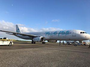 La nueva línea aérea de RD Sky Cana recibe su primer avión Airbus A321