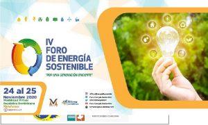 Celebrarán Foro Energía Sostenible 2020 en la modalidad virtual