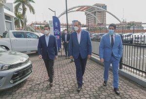 El presidente del Banco Popular visita concesionarios de Autoferia Popular
