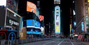 Nueva York marca la llegada del 2021 con un Times Square casi desierto
