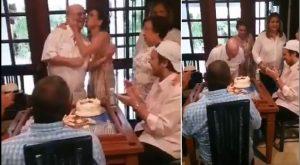 En intimidad familiar celebró Hipólito Mejía su cumpleaños número 80
