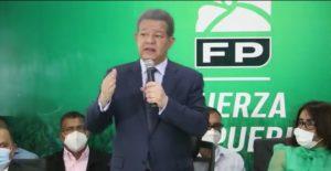 """Leonel: """"Partido que ofrece esperanza de futuro es la Fuerza del Pueblo"""""""