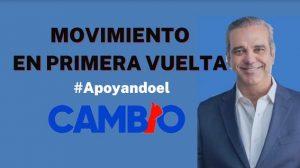Movimiento En Primera Vuelta llama a respaldar al Presidente Abinader