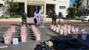 Decomisan 210 paquetes de cocaína en el puerto dominicano de Caucedo