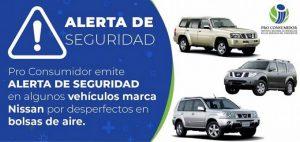 Pro Consumidor alerta sobre fallas en tres modelos de los vehículos Nissan