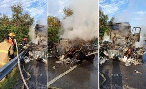 PUERTO PLATA: Cuatro muertos deja choque entre camión y una camioneta