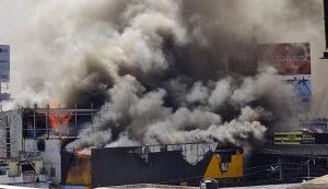 Incendio afecta tienda de bicicletas Aro y Pedal en avenida 27 de Febrero