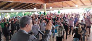 Leonel Fernández juramenta en la FP  307 direcciones de base Monte Plata