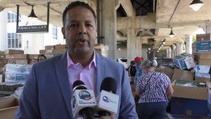 PATERSON: Diputado N. Rodríguez distribuye cientos cajas con alimentos