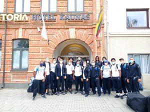 Selección de RD arriba a Lituania para entrenamientos repechaje olímpico