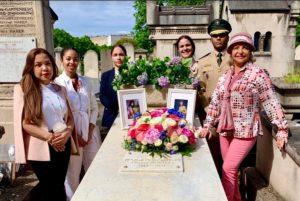 FRANCIA:Embajada dominicana  remoza tumba de María Montez