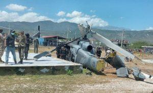 Helicóptero militar dominicano sufre accidente junto a la frontera con Haití