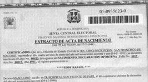 Unos 29,000 niños no tienen acta de nacimiento en República Dominicana