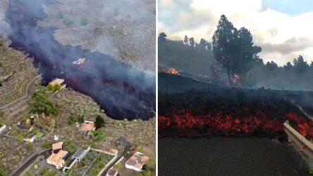 ESPAÑA: Huida angustiosa tras nueva boca volcán de La Palma