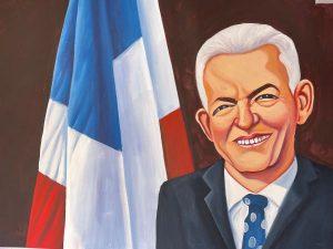 PLD en Santiago rinde tributo a Juan Bosch con pinturas en óleo