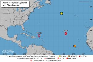 En alerta nueve provincias de la RD por la tormenta tropical Peter