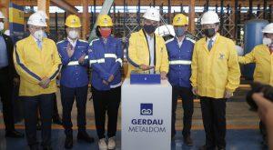 Abinader inaugura nueva nave industrial de Gerdau Metaldom