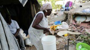 Terremoto limitó acceso a agua a unos 400 mil haitianos