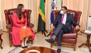 JAMAICA: Primer Ministro recibe a embajadora de Rep. Dominicana