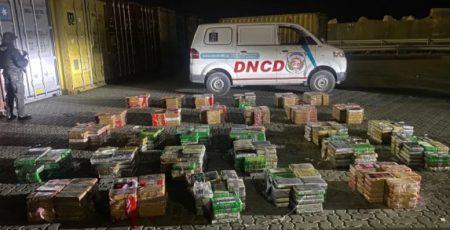 La DNCD ocupa 978 paquetes de cocaína en el Multimodal Caucedo