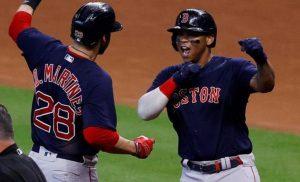 Boston empate serie con jonrones históricos de J.D. y Devers