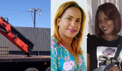 2 mujeres mueren golpeadas por neumático se desprendió de grúa
